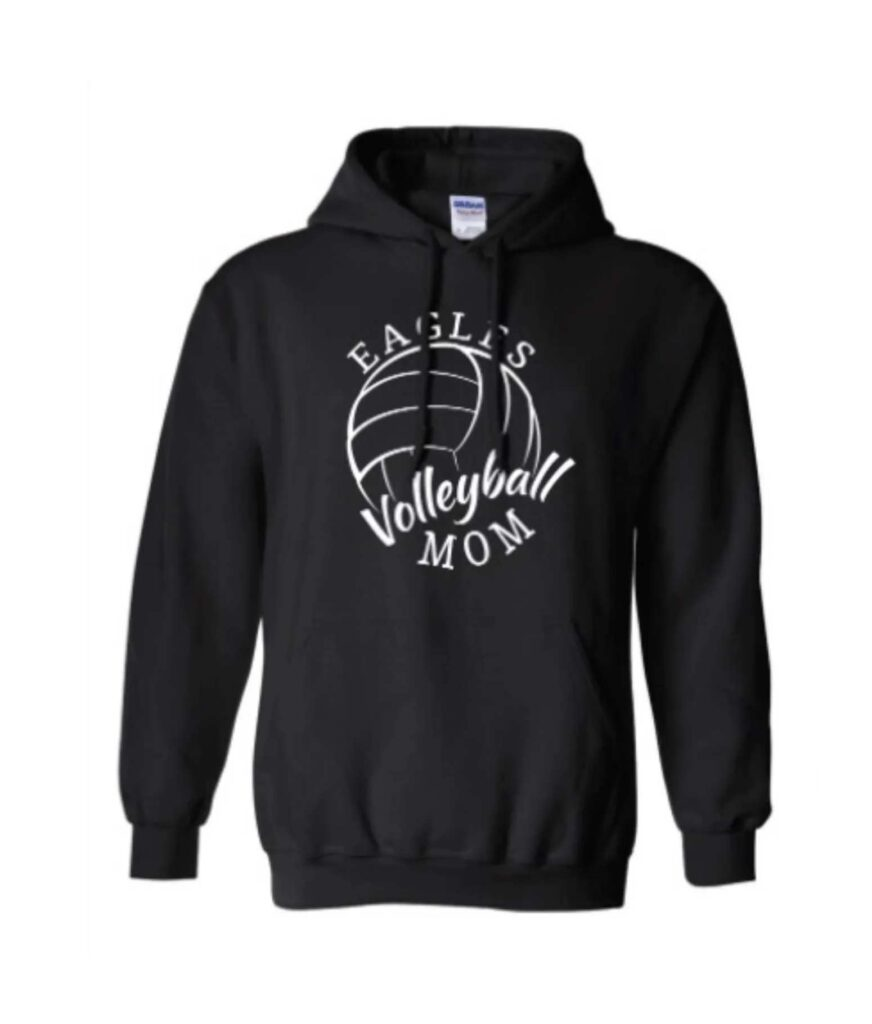 Hoodie Eagle Volleyball Mom Black
